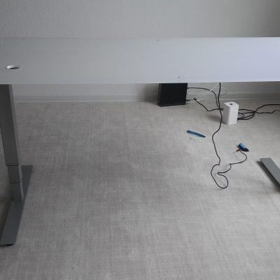Sit Stand Glass Desk