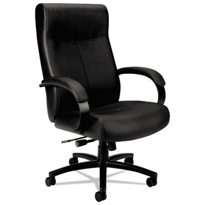 Big & Tall Leather Executive Chair Black