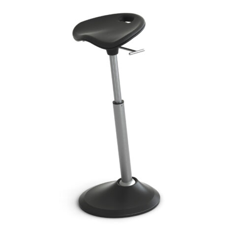 Mobis® Seat Supports leaning posture – encourages a hip-to-torso range of 130 to 135 degrees which provides less pressure on your spine and connecting muscles when compared to standing