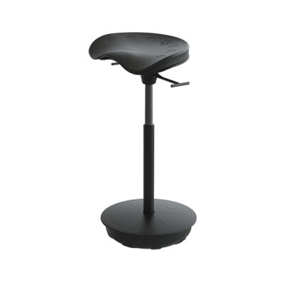 Pivot Seat supports leaning posture – encourages a hip-to-torso range of 130 to 135 degrees which provides less pressure on your spine and connecting muscles when compared to standing and the weighted base leverages your center of gravity to support multidirectional use with any standing desk/table and is rated up to 300 lbs