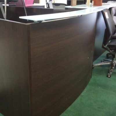 cd curved reception desk espresso