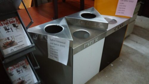 Trifecta Waste/ Recycling Receptacles by Safco