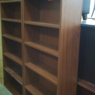 "Used 36""w x 84"" h bookcase Mahogany laminate"