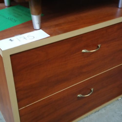 2-drawer lateral file cherry with maple edge