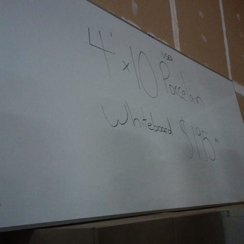 USED 4'x 10' DRY ERASE BOARD