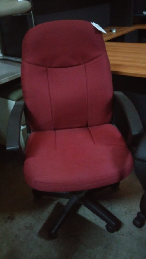 Used high-back executive chair burgundy