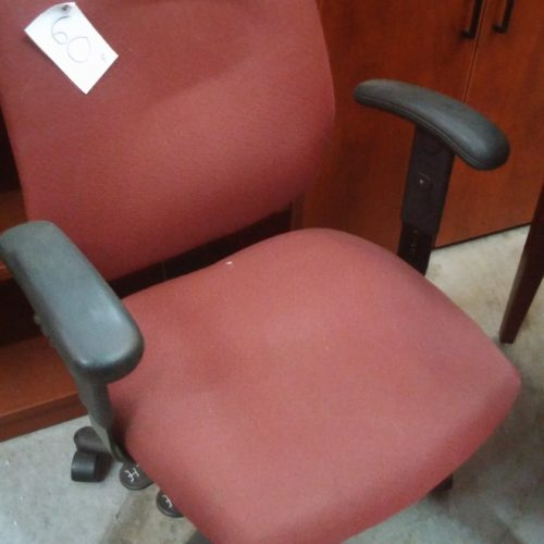 Used task chair with arms burgundy