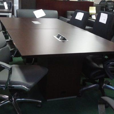 8' conference table Dark Roast laminates