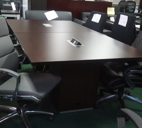 8' conference table Dark Roast laminates