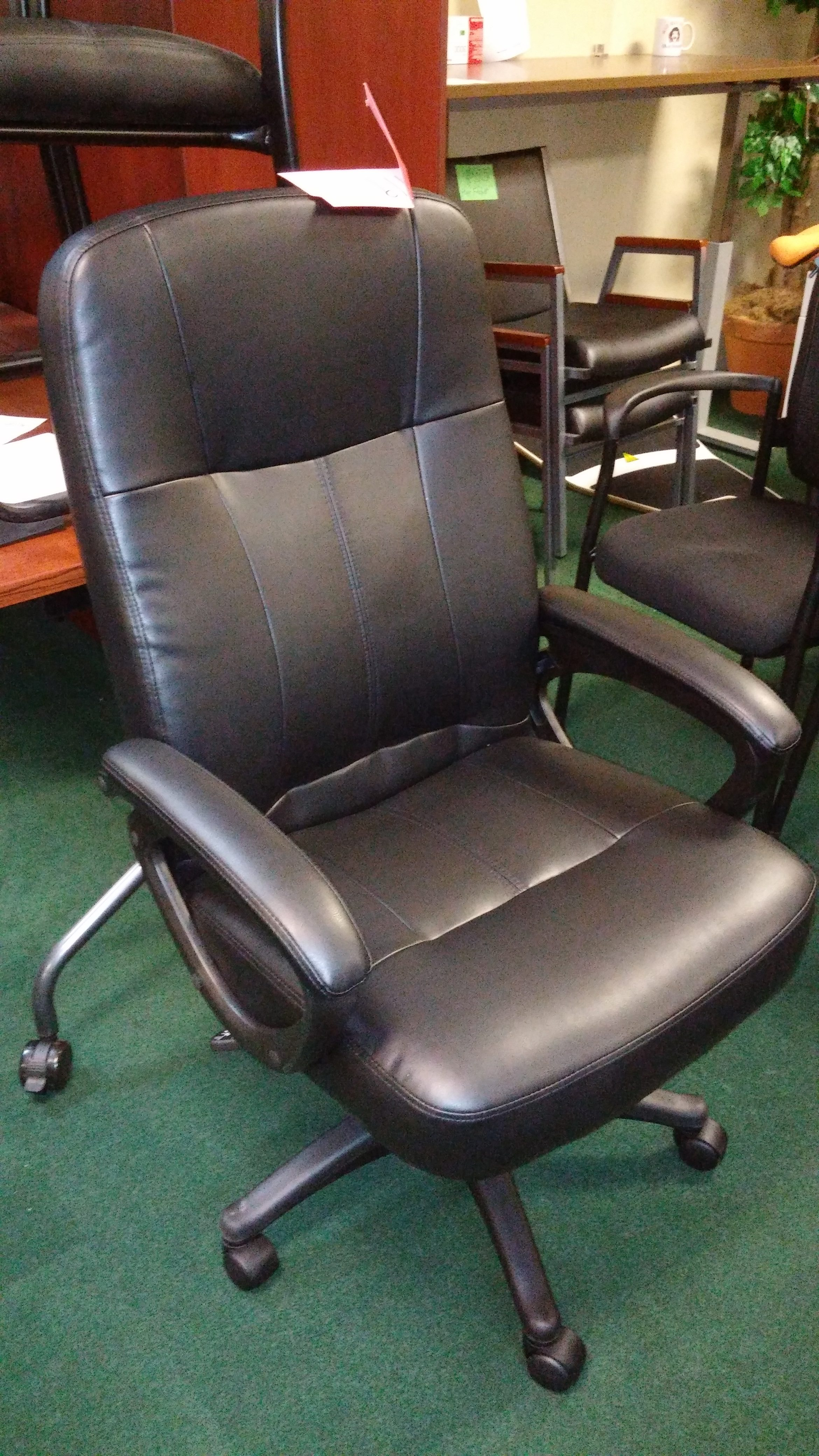 Highback Executive Black Leather Office Chair