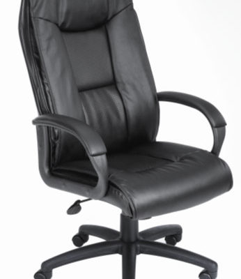 executive high back chair black leather