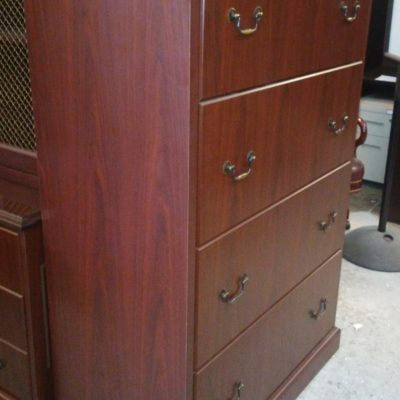 Used HON 94000 4-drawer lateral file mahogany laminate