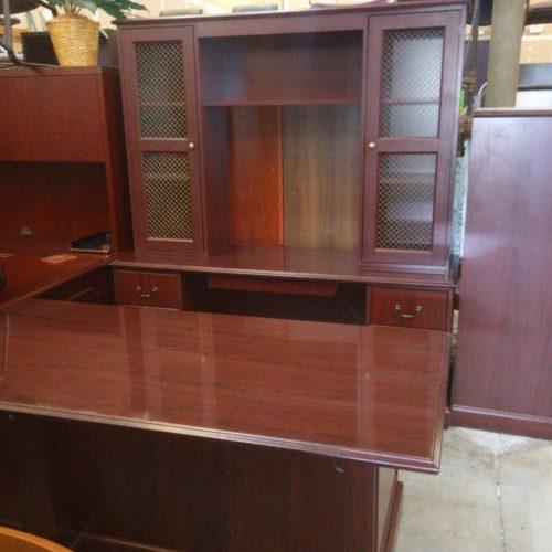 """HON 94000 Series laminate 36"""" x 72"""" desk with 2-box/file drawer pedestals 24"""" X 72"""" credenza w/ 2-box/file drawer pedestals 72"""" hutch"""