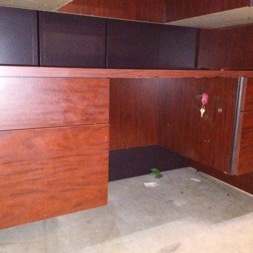 """Used laminate 60"""" desk mahogany"""