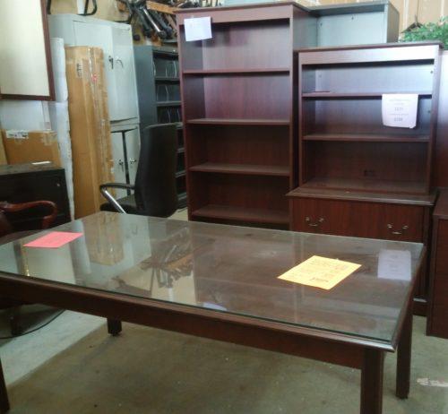 """Traditional mahogany 36"""" X 72"""" table desk"""