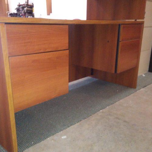 "Used laminate 60"" desk oak"