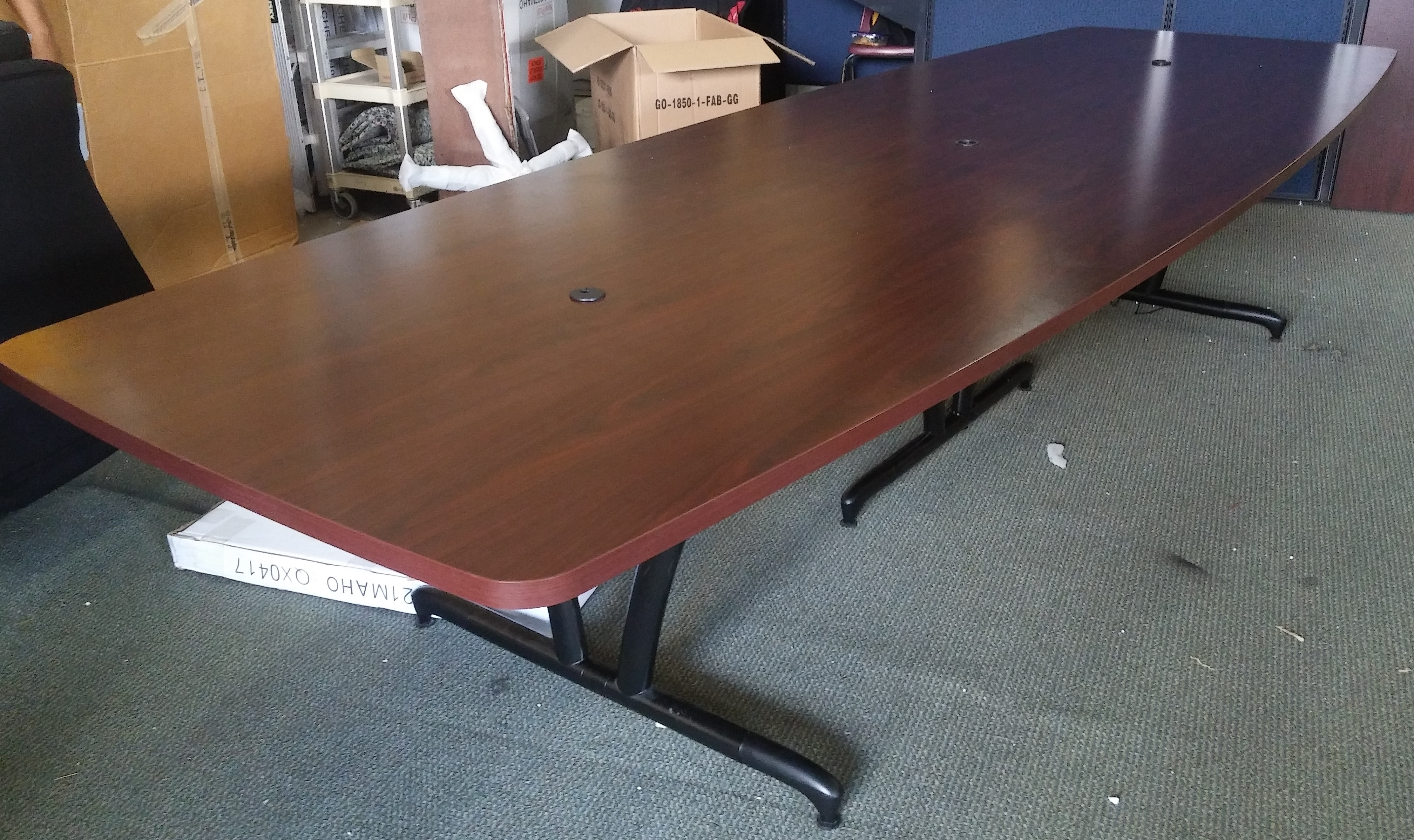 Hon 12 boat shape conference table mahogany used mad for 12 conference table