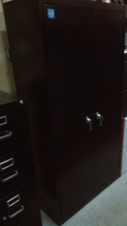 "72"" black metal storage cabinet"