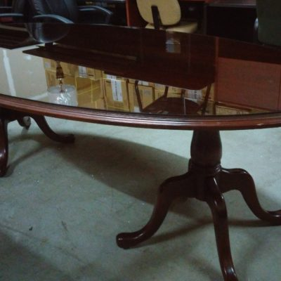 Used traditional 8' oval conference table mahogany