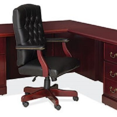 CO-OS900 Traditional L-desk mahogany