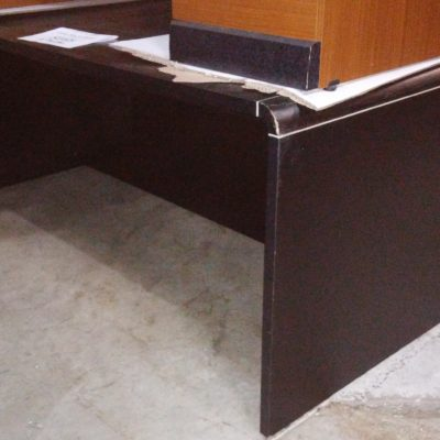 """Used black 36"""" X 72"""" desk with box/file"""