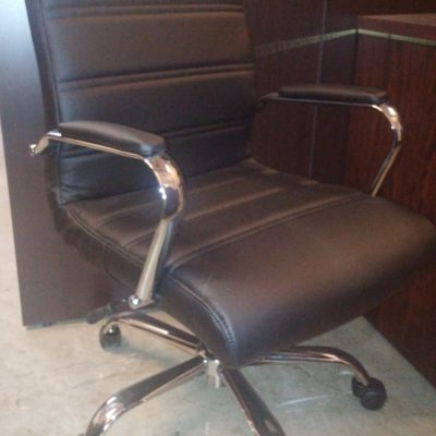 Contemporary Mid-Back Office Chair Built-In Lumbar Support