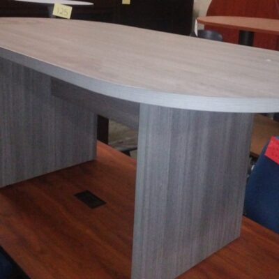6' oval conference table gray