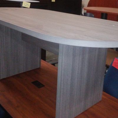 6' gray laminate oval conference table