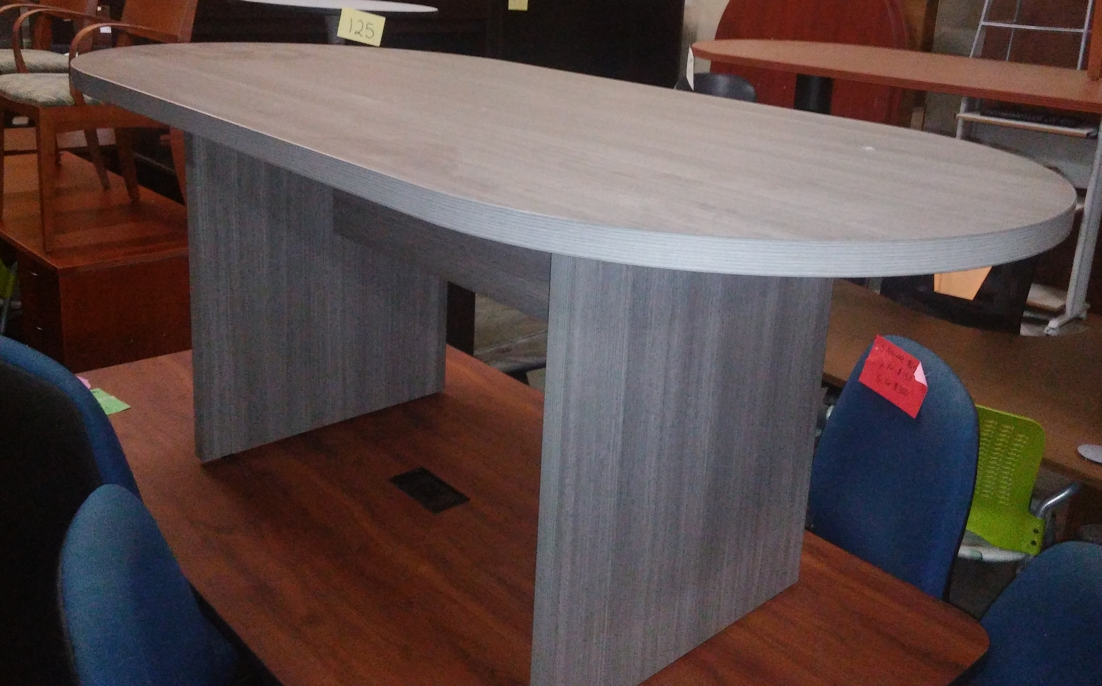 6 Oval Conference Table Gray Laminate Mad Man Mund