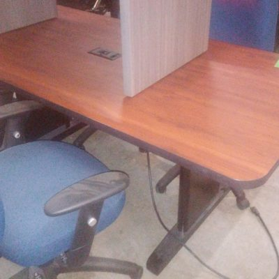 Used 6' rectangular conference table with power grommet Cherry