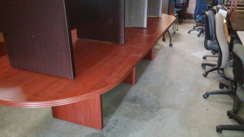 Used cherry 12' oval conference table
