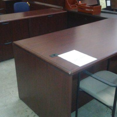 """72"""" desk & 24"""" x 72"""" lateral file credenza mahogany"""