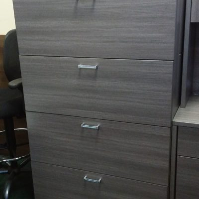 laminate 4-drawer lateral file gray