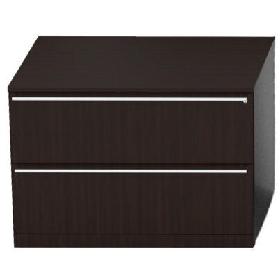 2-drawer lateral file espresso laminate