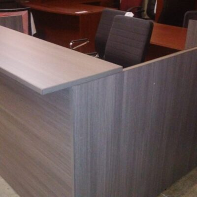 SDCA reception desk & return gray