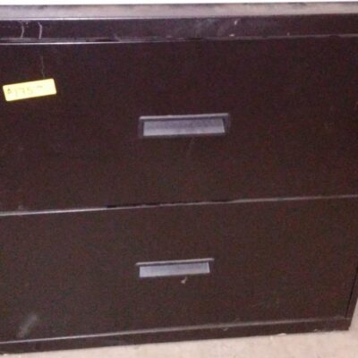 "Used 30"" 2-drawer lateral file black"