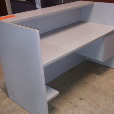 5' Reception desk gray