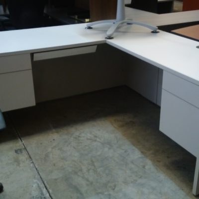 "Used HON 66"" x 78"" L-shape desk with right return Gray"