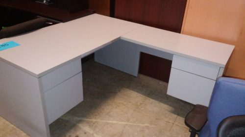 Used National 5' x 6' L-shape desk with right return gray