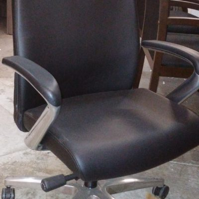 Closeout Executive High-back Chair black leather