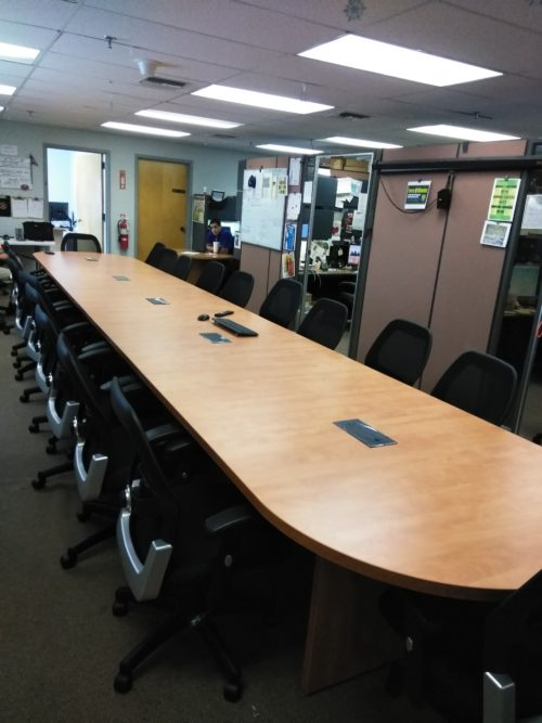24' Laminate oval conference table