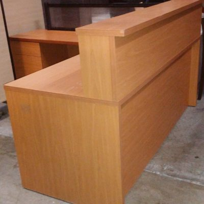 "6' x 6'6"" used Reception L-desk"