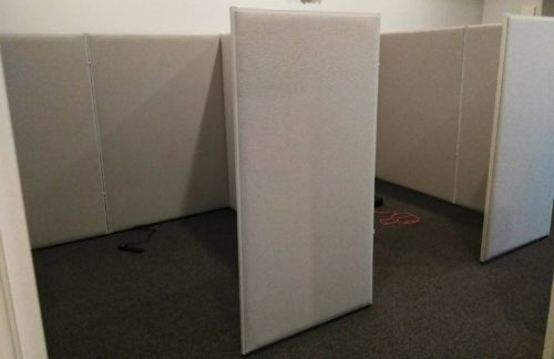"Office Panel 72"" high cubicle Gray"