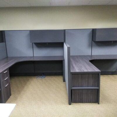 "Prefix 72"" x 78"" cubicles gray"