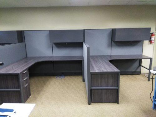 "Maxon Prefix 72"" x 78"" cubicles gray"
