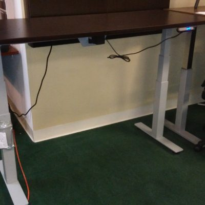 "30"" x 66"" adjustable height table-desk espresso"