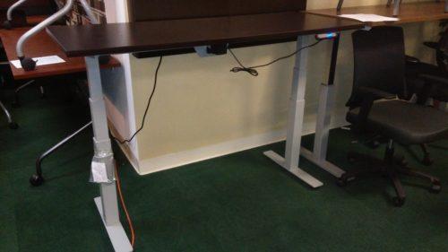 "30"" x 66"" adjustable height table-desk espresso"