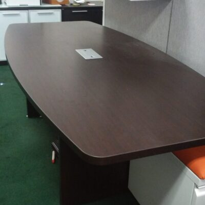 NPL 8' boat-shape conference table espresso