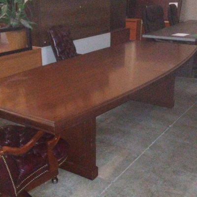 Used OFS 10' conference table cherry veneer