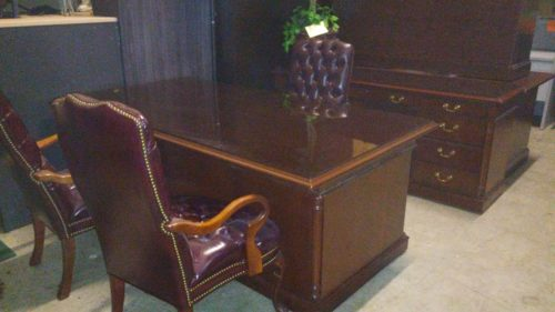 Used OFS classic series executive desk set